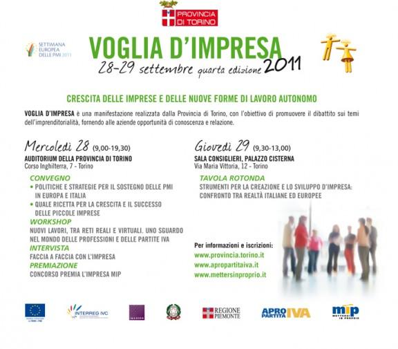 Voglia d'Impresa 2011 punta sulle Partite Iva - al via il 28 e 29 settembre